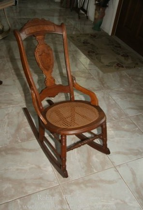 Rocking Chairs on Antique Cane Rocking Chair    100